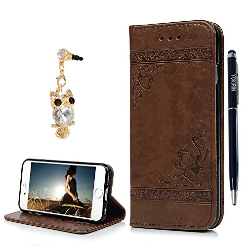iPhone 6 6S Fall 11,9 cm, yokirin Cute Modisches Design PU Leder Wallet Cover automatische Magnet 3D Relief Flip Case Book Style Standfunktion Art mit Ständer Karte Inhaber Geld Tasche für iPhone 6 6S (Cute Teen Halloween)