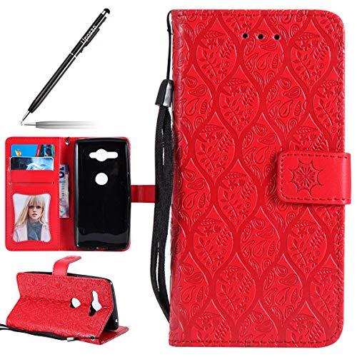 Handyhülle für Sony Xperia XZ2 Compact, Handytasche Kunstleder PU Leder Hülle Wallet Tasche...