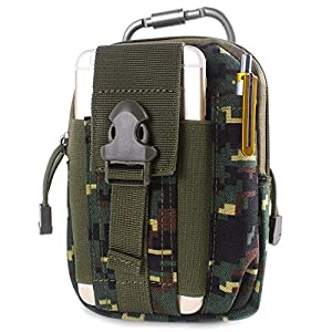 510AmecE4nL. SS300  - Unigear Molle Pouch, Compact EDC Utility Tactical Multi-Purpose Gadget Tool Waist Bag Pack with Extra Aluminum Carabiner