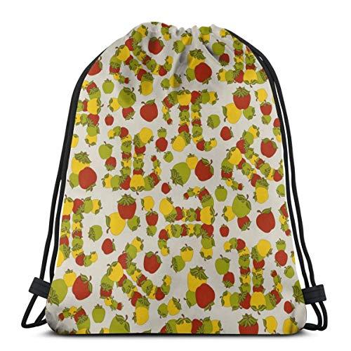vintage cap Apple Pi_44378 3D Print Drawstring Backpack Rucksack Shoulder Bags Gym Bag for Adult 16.9