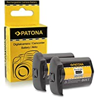 2x Batterie LP-E4 / LP-E4N Pour Canon EOS 1D C, 1D Mark III, 1D Mark IV, 1DX, 1Ds Mark III (Pour 1DX Sans Indication De Temps Restant)