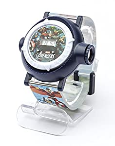 Marvel Avengers Children's Quartz Watch with Multicolour Dial Digital Display and Multicolour Plastic Strap MAR9