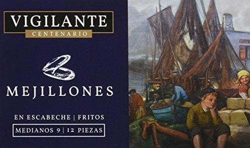 Vigilante Centenario Mejillones en Escabeche - 5 Paquetes de 148 gr - Total: 740 gr