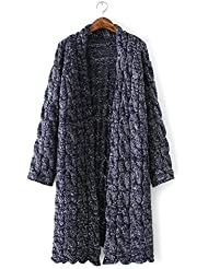 Ladies 'moda sueltos de grosor Knit Cardigan Sweater Coat
