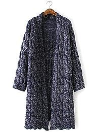 Ladies 'moda sueltos de grosor Knit Cardigan Sweater Coat