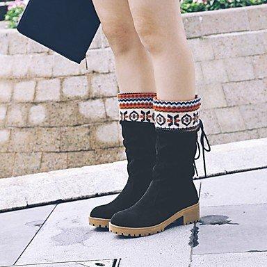 Heart&M Da donna Stivaletti Innovativo Alla schiava Stivali alla cowboy Stivali da neve Stivali da equitazione Stivali moto Anfibi Comoda black