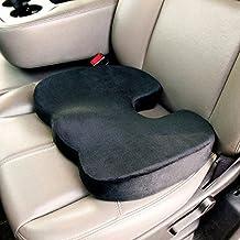 Cojín para asiento de espuma de memoria - Cojín para asiento, coxis Ortopédica Espuma Cojín para Alivio de Dolor Ciática, trasera, y coxis - Silla ergonómica portátil almohadilla de asiento para interior, exterior, Hogar y La Oficina, ordenador, sofá, conducción, Auto, estadio de asiento, silla de ruedas, y más., negro, 17.72x13.78x2.76 inches
