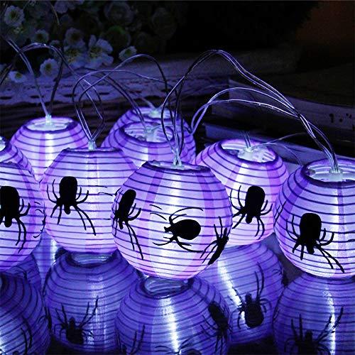 Batterie Lichterkette, Morbuy Laterne Entwurf 2.3m /10LED Warmweiß Licht Deko Lampe (Lila Spinne) ()