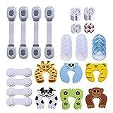 Baby Sicherheits Set, 42 Teile Set für Kindersicherung – 14 x Eckschutz, 14 x Steckdosenschutz, 6 x Finger-Klemmschutz für Türen, 4 x Schranksicherung, 4 x Universal -Sicherung