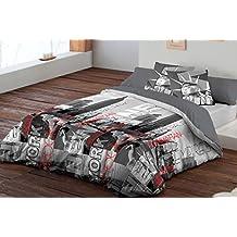 Funda nòrdica 3 piezas,(funda, bajera y almohadón) cama de 90cm, central park - PIERRE CARDIN.