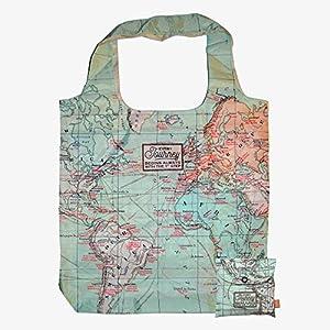 Bolsa para la compra reutilizable y plegable diseño «Mapa»