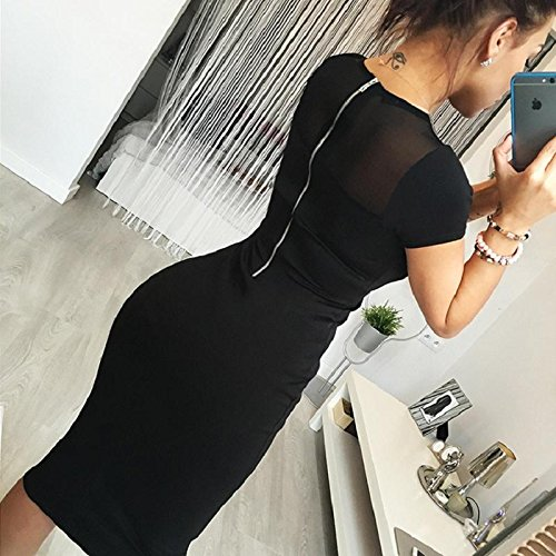 CALISTOUS Mesh Lace Pencil Party Evening Mini Dress Ladies Pencil Dress M