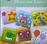Craft Crazy magnetische Kacheln Bastel Basteln Farbe Pinsel Set