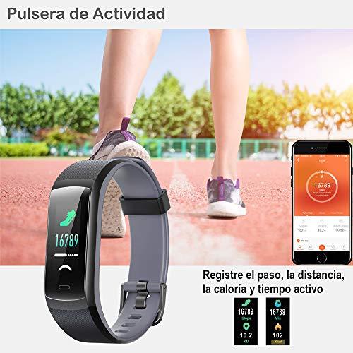 Imagen de willful pulsera de actividad, pulsera inteligente con pulsómetro reloj inteligente impermeable ip68 pulsera para deporte pulsera actividad inteligente para mujer hombre niño para android ios teléfono alternativa