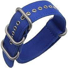 24mm azul de lujo exótico lona de nylon de la NATO reemplazo de las pulseras para relojes de estilo militar bandas para los hombres