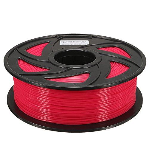 MASUNN 1,75 Mm 1Kg Pla Transparent Rouge/Bleu/Vert/Jaune Filament Pour Imprimante 3D Reprap