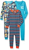 Amazon Brand - Spotted Zebra Unisex Kid's 3-Pack Snug-fit Cotton Footless Sleeper Pajamas