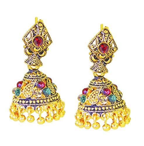Riyo plateado oro liso pendiente llanura deslumbrante joyería hecha a mano en línea gpejhu-120012