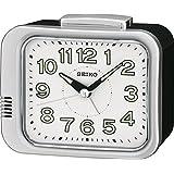 Seiko Unisex Reloj despertador Esfera Analógica Pantalla y plástico blanco qhk028s