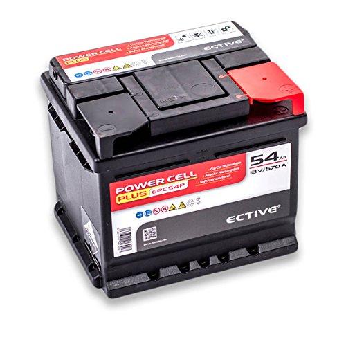 Preisvergleich Produktbild ECTIVE EPC PLUS-Serie / 12V Autobatterie / 8 Varianten: 47Ah - 105Ah / Inkl. 7, 50 EUR Batteriepfand / 12 V Starterbatterie,  KFZ-Batterie