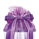 Unbekannt Große 3-D Schleife - 24 cm Breit u. 54 cm Lang -  Schmetterling Lila Violett  - für Geschenke und Schultüten - Geschenkschleife - Geschenkverpackung