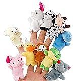 Gearmax 10pcs Verschiedene Karikatur-Tier Fingerpuppen , Fingertiere / Fingerpuppen Tiere - 10 Stück Set -Weicher Samt Puppen Spielzeug Props