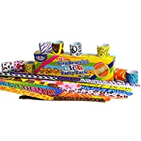 JOYIN 72 PCs Slap Band Slap Bracelets Party Bag Fillers for Kids (24 Designs) with Colorful Hearts Animal Emoji Valentine