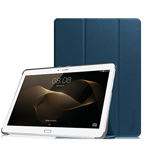 Fintie Huawei MediaPad M2 10.0 Hülle -Ultra Schlank Superleicht Ständer (SlimShell) Case Cover Schutzhülle Etui Tasche mit Standfunktion Auto Sleep / Wake für Huawei MediaPad M2 10 Zoll (25,4 cm) LTE / WiFi Tablet-PC, Marineblau