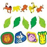 Amscan–Confeti (36106634g animales de la jungla (3unidades)