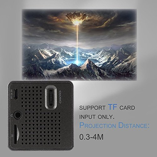 WL-P1 Mini Portable 1080P Full HD LED Projector DLP Home Movie Theater Entertainment Device TF Card Input Projector