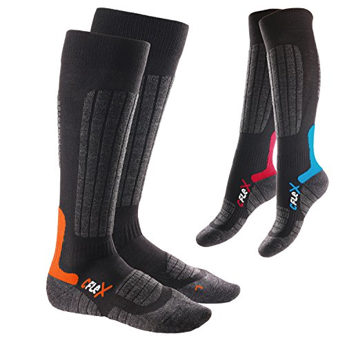 3 Paar CFLEX HIGH PERFORMANCE Ski- und Snowboard Socken im 3-Farb-Pack-43-46