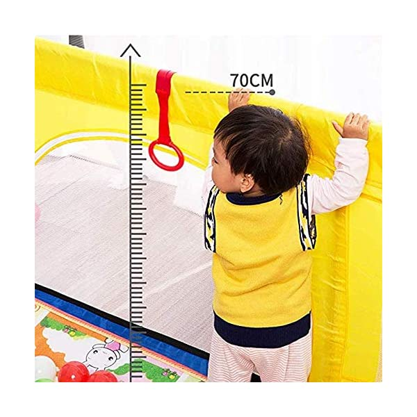 TOY Child Playpen, Kids Activity Center, Kids Safety Play Center Yard, Home Indoor Fence, Anti-Fall Play Pen, Fabric Indoor Child Playards, Anti-Skid,120 * 120cm TOY ◆Liberate Mom's Hands: Effectively help your child explore the world of perception, keep your child away from harm, and mothers can free their hands to do their own things.(Note: The package has only 1x children's fence.) ◆Large Space Design: 120x120cm, 120x150cm, 150x150cm, 150x190cm, 180x190cm, 200x250cm (6 sizes, available for you to choose from). Please refer to the dimension drawing for details. It provides a safe space for your child to play so that your little one could move around freely. ◆Spacious Area:The height of the fence is long enough for the child to stand and walk while the area inside the yard is plentiful for them to explore around. Make it fun for children to play and learn with enough room for all baby's essentials 7