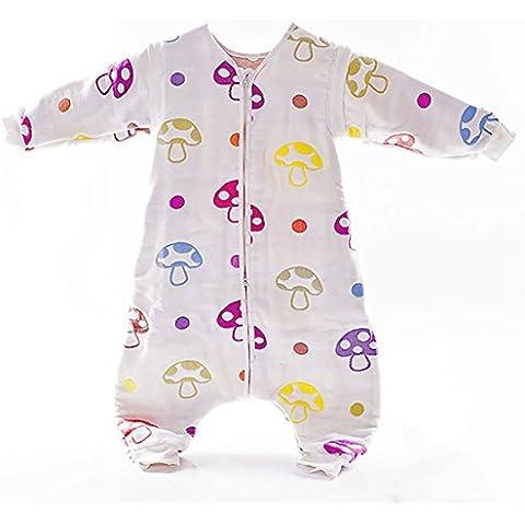 GenialES Saco de Dormir Algodón Puro Suave Cómodo para Bebé Recién Nacido 0-36 meses para Verano Otoño Primavera