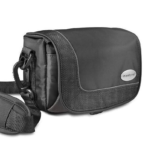 Mantona moyennes caméscope taille de sac avec bandoulière et boucle de ceinture pratique!