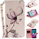 Ooboom® Samsung Galaxy A3 2016 Coque Faux Cuir Flip Housse Étui Cover Case Wallet Pochette Supporter Porte-Cartes de Crédit pour Samsung Galaxy A3 2016 - Fleur