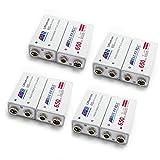 SUPEREX® 9V 650mAh Lithium-Ionon rechargeable battery wiederaufladbare aufladbare ladbare 9Volt