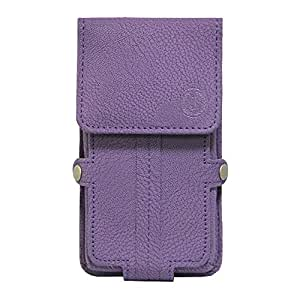 J Cover A6 G8 Series Leather Pouch Holster Case For Asus Zenfone Pegasus 3 Purple