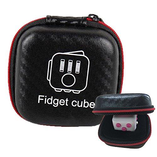 Fidget Cube Organizador de casos Anti-ansiedad Stress Relief juguetes para niñas Niños Adultos Adultos Regalos de Navidad Cube Holder (sin el cubo fidget)
