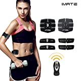 IMATE EMS Remote Control Abdominal Toning Belts Muscle Toner Electrical Belt Waist/Arm/Bottom/Thigh Trainer Belt, IMATE ABS Fitness Trainer Wireless Fitness Apparatus Unisex Support for Men & Women