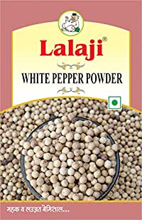 Lalaji Supreme Quality White Pepper Powder Used in Dishes for its Savoury Taste 100 gm