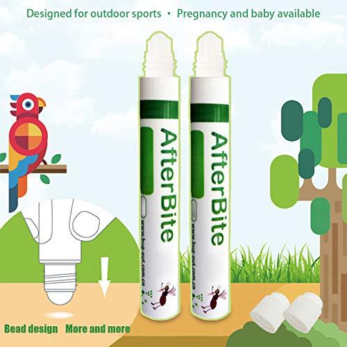 EqWong 10ml After bite Stift gegen Mücken-Moskito Zecken Bisse Stiche Stick, Mückenstich Antipruritic Dew Ointment Ätherisches Öl mit Kamille für Kinder Babys Schwangere