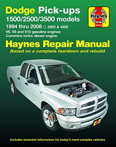 Dodge Pick-Ups 1500, 2500 & 3500 Models, 1994 Thru 2008 Haynes Repair Manual: 2wd & 4WD - V6, V8 and V10 Gasoline Engines - Cummins Turbo-Diesel Engin (Hayne's Automotive Repair Manual) - Cummins-diesel-motor