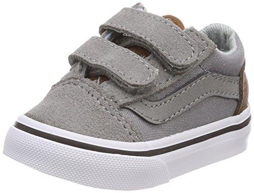 Vans Unisex Baby Old Skool V Sneaker, Grau (C/Yellow), 20 EU