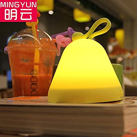 FDH  Termometro sveglia stile luce flip , giallo