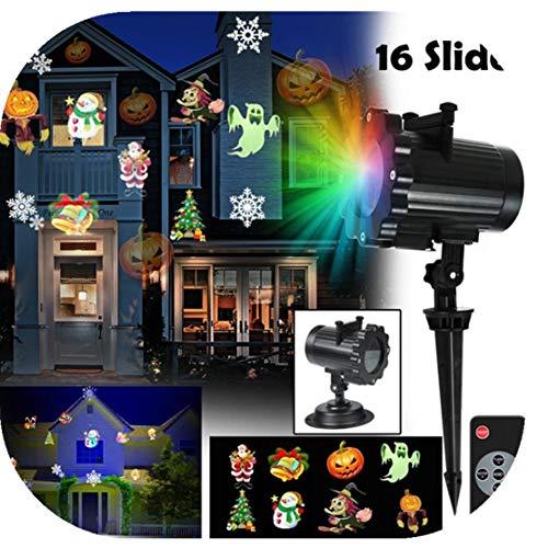 Happy Event LED Light Effects - 16 Pattern Landschaft Lampe Projektion- Light Projector - for Christmas, Halloween, Easter, Thanksgiving, Holiday, Party, Landschaft und Gartendekoration
