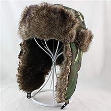 JJHR Sombreros y gorras Hombres Bombardero Sombreros Sombrero De Invierno  Trapper Sombrero Ushanka con Deportes Al 9a264a066fe