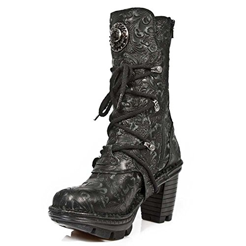 New Rock M Neotr005 S25, Stivali Donna BLACK, BLACK