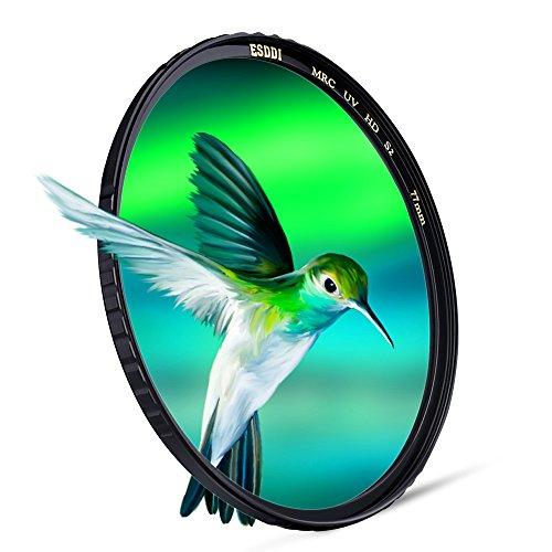 ESDDI UV-Filter und Schutz-Filter Slim MC 77mm, HD SCHOTT Glas 77mm Canon-objektiv-filter