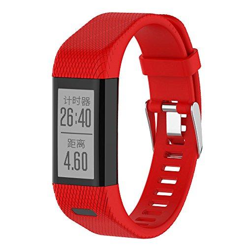 Garmin-fall (Yallylunn Replacement Silicone Band Strap Wristband Bracelet Rundumschutz Kratzschutz Anti Fall Einteilige Schnalle for Garmin Vivosmart Hr+ Rd)