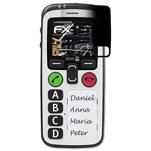 atFolix Blickschutzfilter kompatibel mit Doro Secure 580 IP Blickschutzfolie, 4-Wege Sichtschutz FX Schutzfolie